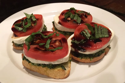 Open-Faced Caprese Sandwich