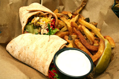 Chicken Taco Wrap Troll Pub